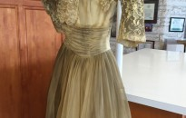Before; a vintage damaged gown.